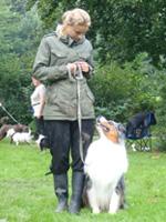 Pernille træner hund
